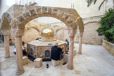 fountain: JAFFA, ISRAEL - JUNE 1, 2016: Ablution fountain of Mahmadiyya Mosque in Jaffa, Israel. The mosque was built by Sultan II Mahmud in 1812.