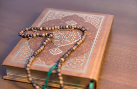 Made of wood, rosary on the Qur'an Kerim