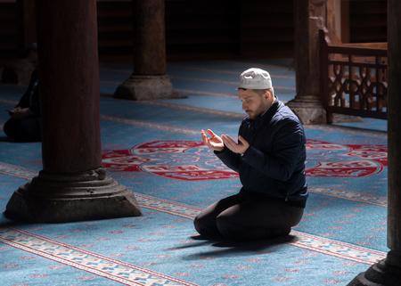 BEYSEHIR KONYA TURKEY - MARCH 24, 2018: The Esrefoglu Mosque is a 13th-century mosque in Beysehir, Konya Province of Turkey.