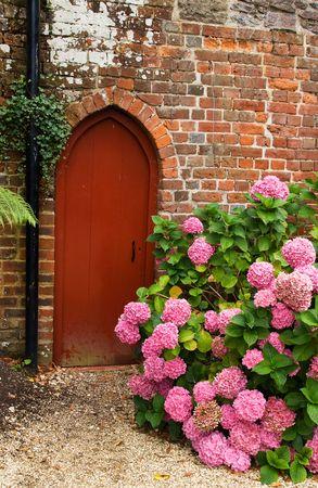 cerrar la puerta: Puerta de jard�n Foto de archivo