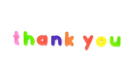 Fridge magnet thank you message Stock Photo - 6344880