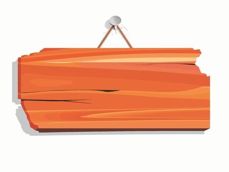 note de service: planche de bois blanc Illustration