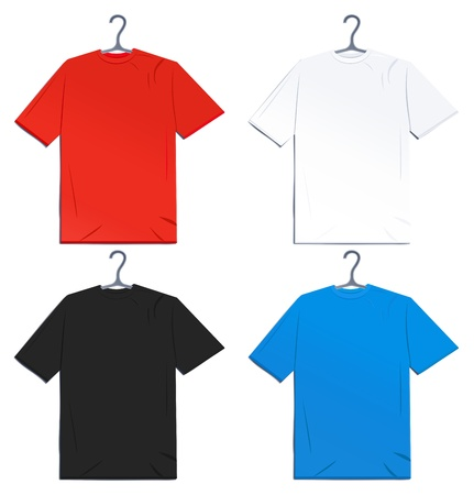 shirts on hangers: Vector  T-shirts