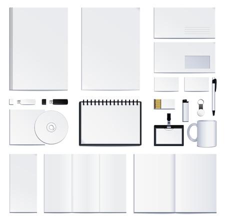 carta identit�: identit� di presentazione aziendale. Vettore Vettoriali