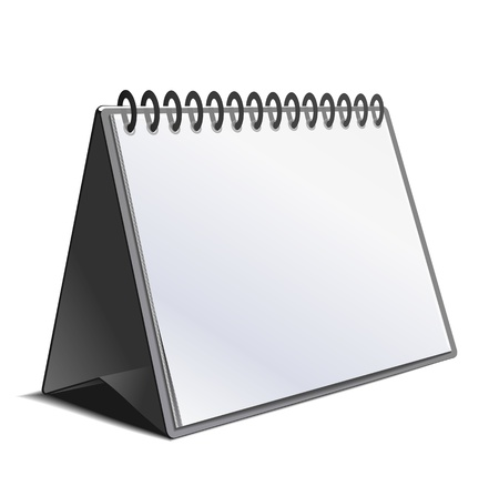 personal organizer: Blank calendar isolated on white. Vector