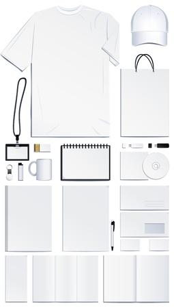 carta identit�: Modelli di corporate identity. Illustrazione vettoriale