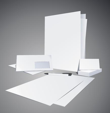 papeleria: Plantillas de identidad corporativa. Ilustraci�n vectorial