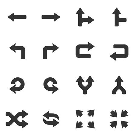 flecha derecha: iconos de botones de flechas negras muestran las películas