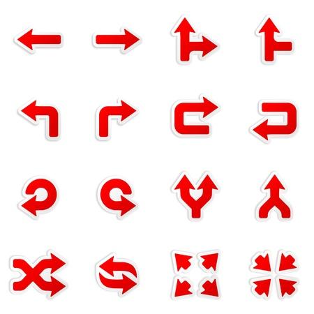 flecha derecha: iconos calcomanía de flecha
