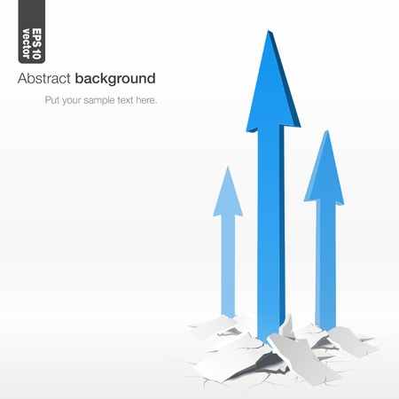 crack up: success concept  3d  of growth arrows
