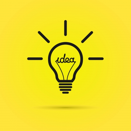 Effective thinking concept bulb icon with innovation idea Vector