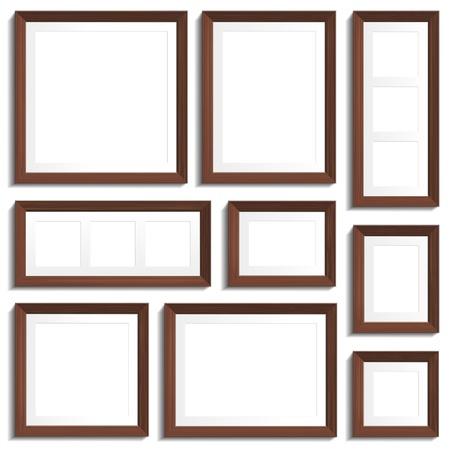 wengue: marcos vac�os de madera wengu� en diversos formatos est�ndar