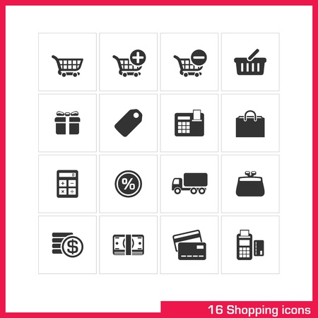 Shopping icon set Stock Vector - 19551124