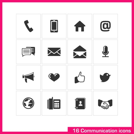 Communication icon set  Stock Vector - 19551118