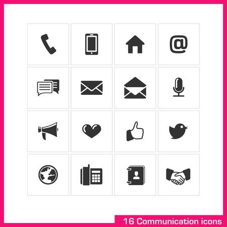 Communication icon set Stock Vector - 19551118