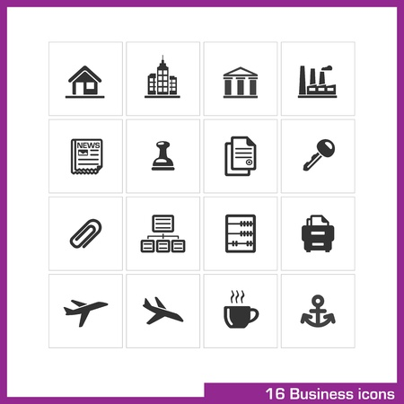 Business icon set   Stock Vector - 19551120