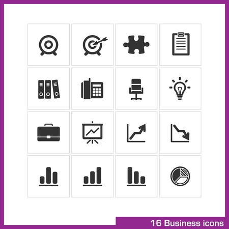 business briefcase: Business icon set  Illustration