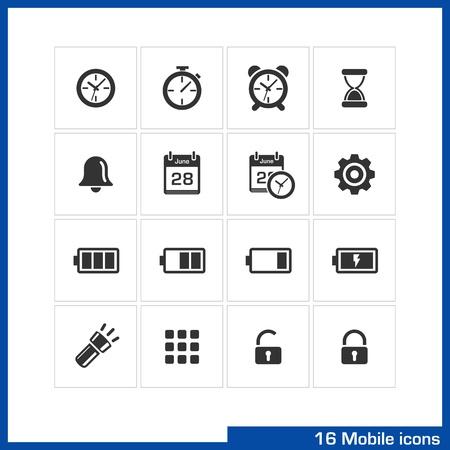 clock icon: Mobile icon set