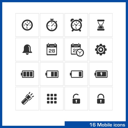 Mobile icon set Stock Vector - 19551117