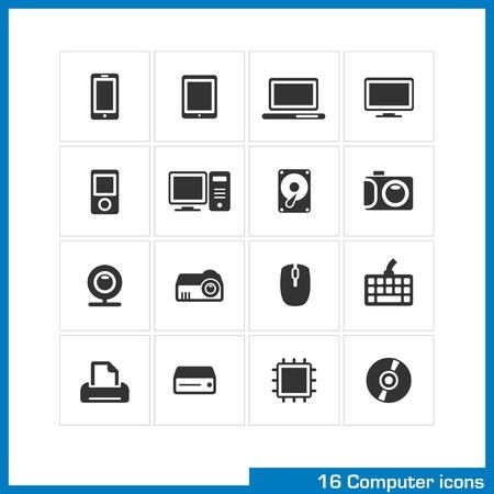 Computer icon set Stock Vector - 19551129