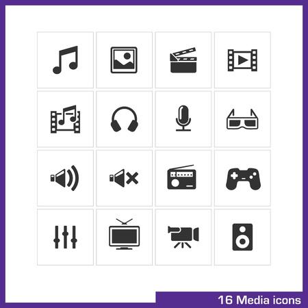 Media icon set Stock Vector - 19551114