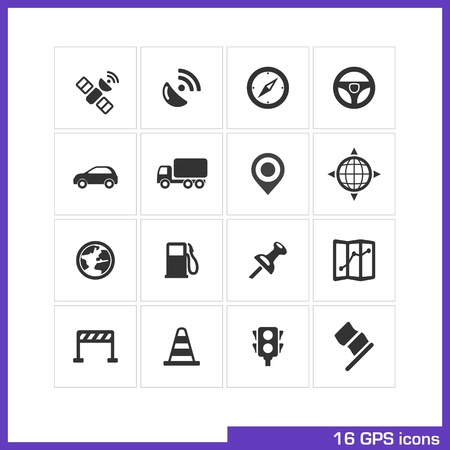 GPS icon set  Illustration