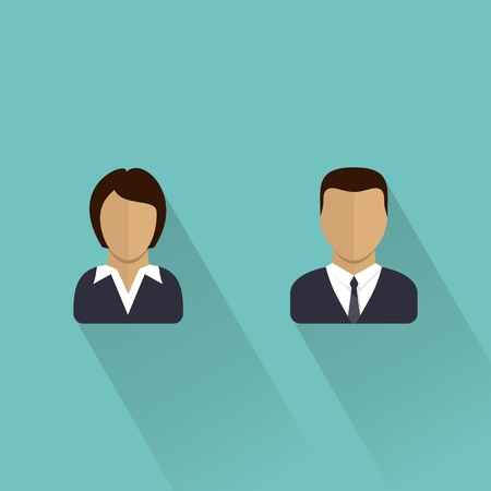 nude male: Male and female icons  Businessman and businesswomen user avatar  Man and women  Flat vector illustration   Illustration