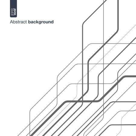 Digitale netwerk begrip Vector abstracte achtergrond met technische lijnen voor presentaties, zakelijke, web, computer en mobiele apps, grafische vormgeving technologie circuit in geometrische beweging