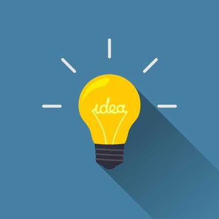 インスピレーションの概念ベクトル デザイン要素フラット アイコンとして電球形で創造的なアイデア
