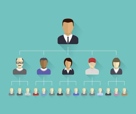 Iconos planos de personas con fines de diseño gráfico ilustración vectorial avatares humanos conectados como red para la web, sociales, gestión, negocio, internet, ordenador, aplicaciones móviles, infografía Foto de archivo - 29411805