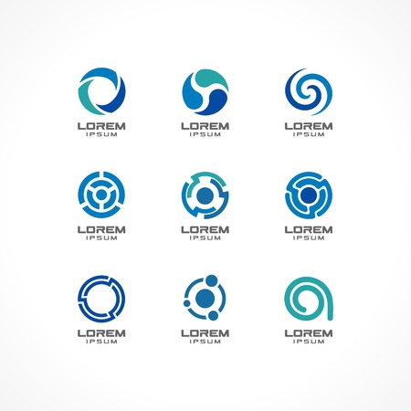 Set of icon design elements  Abstract ideas for business company, finance, communication, technology, science and medical concepts  Pictograms for corporate identity template Vector Illustration
