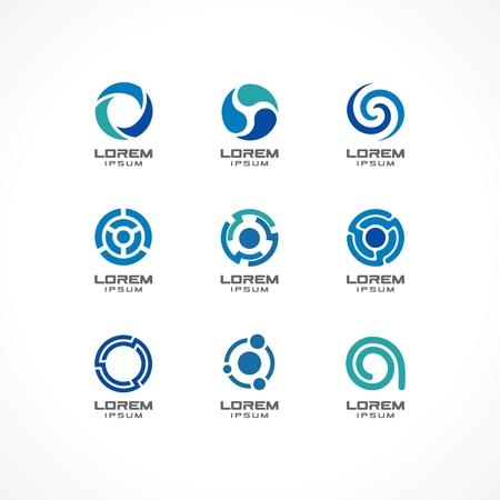 Set van pictogram ontwerp elementen Abstracte ideeën voor zakelijke onderneming, financiën, communicatie, technologie, wetenschap en medische concepten Pictogrammen voor corporate identity template Vector Illustratie
