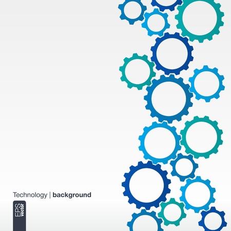 Abstracte achtergrond met geïntegreerde tandwielen voor Business Company, digitaal, internet, netwerk, verbinden, sociale media en de wereldwijde concepten. Stock Illustratie