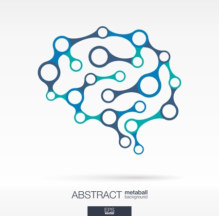 medical technology: Abstract background with lines and integrated circles. Brain concept for communication, infographic, business, medical, social media, technology, network and web design. Vector illustration. Illustration