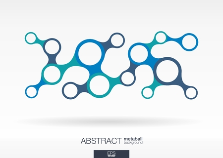 integrated: Abstract background with integrated metaballs for Business Company, digital, interactive, network, connect, social media and global concepts.