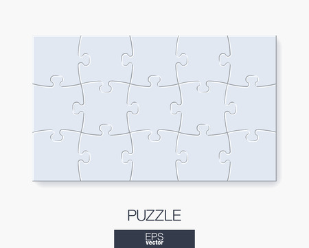 White puzzle vector illustration.