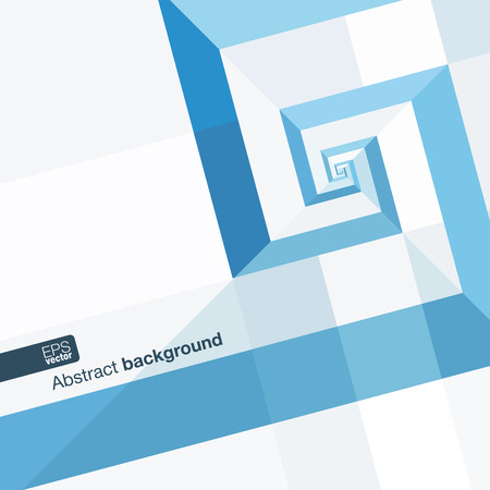 blue design: Blue modern geometric abstract background with blue triangles rectangles spiral and space for your text. Vector illustration. Illustration