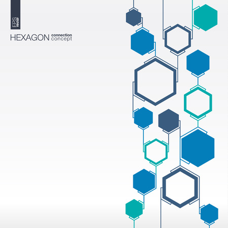 hexagon: Abstract hexagon