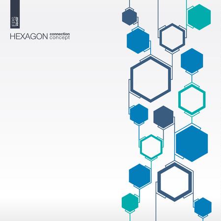 Abstrakt Hexagon Standard-Bild - 43347927