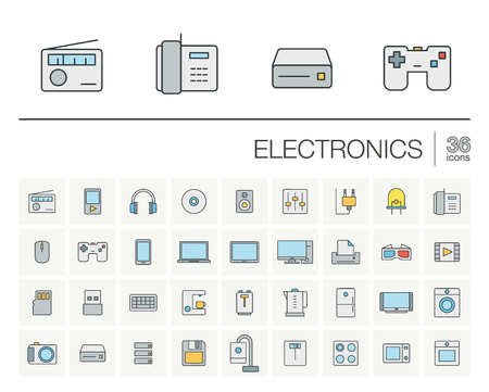 electronic: Electronics icon Illustration