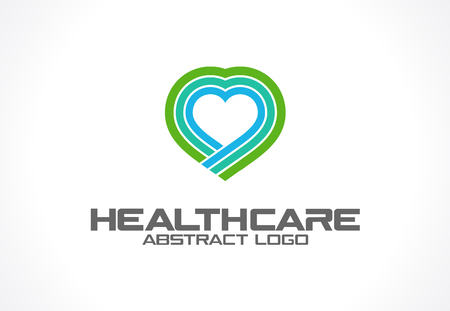 mobil: Abstract logo for business company. Corporate identity design element. Healthcare, help, pharmacy, heart logotype idea. Health protection, care, medical clinic, medicine concept. Colorful Vector icon