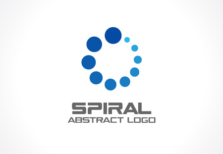 Abstract business company. Corporate identity design element. Social media, growth, internet connect idea. Loading spiral group, swirl, technology progress, concept. Vector icon