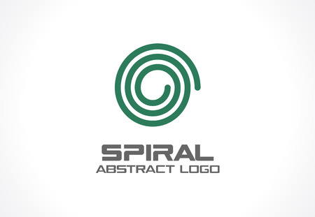 mobil: Abstract business company. Corporate identity design element. Spiral, Nature, mix, ecology idea. Swirl, whirlpool, rotation and twist concept. Vector icon