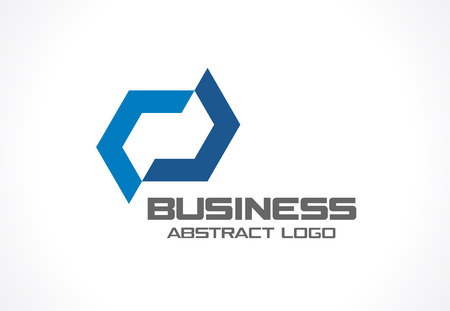 industry design: Abstract business company. Corporate identity design element. Industry, finance, bank idea. Hexagon group, network integrate, technology interaction concept. Color Vector connect icon Illustration