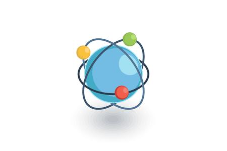 global communication: Global communication, network isometric flat icon. 3d vector colorful illustration. Pictogram isolated on white background Illustration
