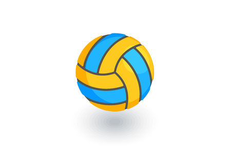 Volleyball ball isometric flat icon.