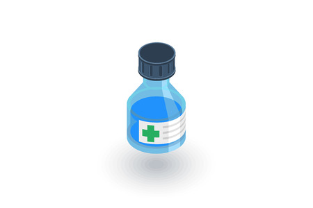 medical cure: Mixture, medical isometric flat icon.