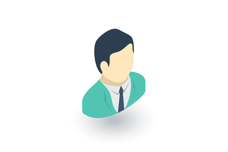 medical occupation: Surgeon doctor isometric flat icon.