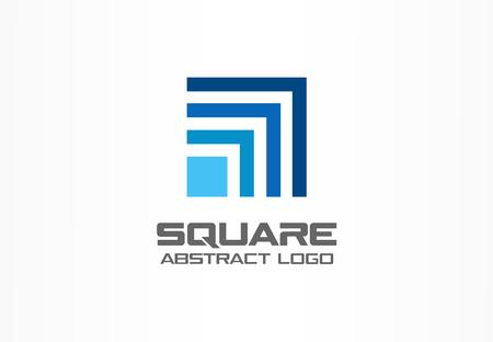 Abstract logo voor bedrijf bedrijf. Corporate identity design element. Technologie, Industrieel, Logistiek, Social Media logotype idee. Vierkant, netwerk, bankgroei concept. Kleurrijk Vector icoon Stock Illustratie