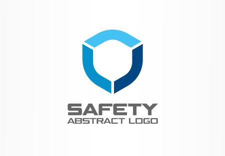 Abstract logo for business company. Corporate identity design element. Guard, shield, secure agency logotype idea. concept. Technology protection, security, safety concept. Colorful Vector icon Illustration